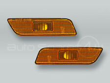 TYC Amber Bumper Turn Signal Lights Side Markers PAIR fits 1999-2006 VOLVO S80