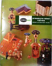NIBCO SCOTT Bronze & Iron Valves Catalog ASBESTOS Packing Gaskets 1965