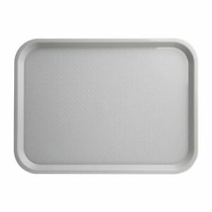 Kristallon Large Fast Food Tray in Grey - Stackable - 305 x 415 mm