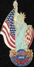 Hard Rock Cafe NEW YORK 1999 July 4th PIN Lady Liberty w/ Flag HRC Catalog #6522