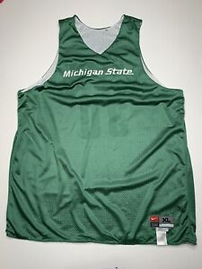 VTG Michigan State Spartans Basketball Team Issue Reversible Jersey USA - XL