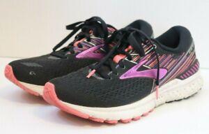 Brooks Womens 9 B Adrenaline GTS 19 1202841B080 Purple Black Running Shoes
