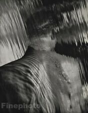 1988 Vintage 11x14 SURREAL MALE NUDE Waterfall Abstract Photo Art By HERB RITTS