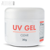 THE EDGE NAILS UV GEL - CLEAR 30g grams False Nail Tips Overlay Builder One Step
