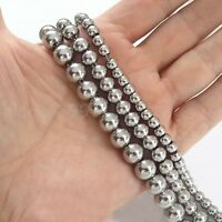 4mm-10mm Stainless Steel Soild Round Beads Ball Chain Necklace 12inch-36inch New