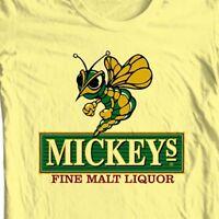 Mickey's Irish Malt Liquor Beer T-shirt bar Ireland cotton graphic yellow tee