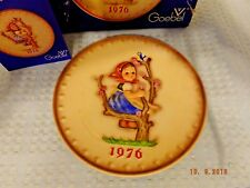 Goebel Mj Hummel Annual Plate 1976 Girl in the Tree/With Original Box