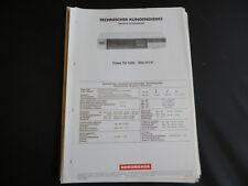 Original Service Manual Nordmende TU 1260