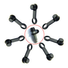 8x Black Universal Rubber Brake Caliper Bleed Nipple Screw Dust Car Caps Cover