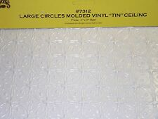 Dollhouse HouseWorks Large Circle Vinyl Tin Ceiling #7312
