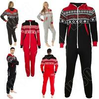 Unisex Onesie Mens Womens Ladies Adult Aztec Print ZipUp All In One Jumpsuit New