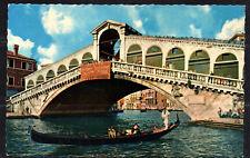K300# vieja ak postal ponte di realto, rialtobrücke, Venecia, 31.07.1962