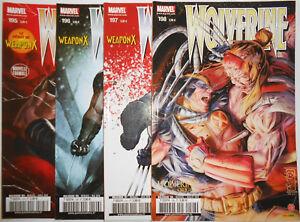 Comics : Lot de 4 Wolverine 2010 Panini 195 à 198 x-men