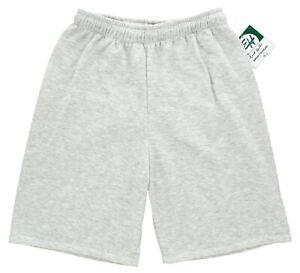 Erick Hunter Men's Fleece Shorts Activewear Light Gray Heather, No Pockets