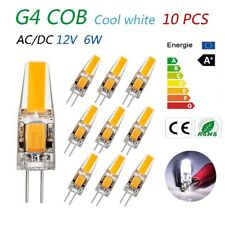 6W G4 COB LED chips work lamp bulbs 12V AC DC High Power cool white light 10pcs