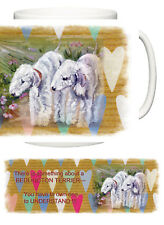 BEDLINGTON TERRIR DOG NEW HEART DESIGN MUG SANDRA COEN ARTIST OIL PAINTING PRINT