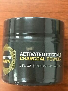 Active Wow Teeth Whitening Activated Coconut Charcoal Powder Natural 2oz  59ml