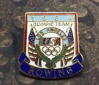 1984 Rowing Olympic Team Los Angeles USA vintage pin badge