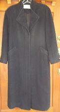 Wool Coat Mackintosh Of New England 6 Womens SMALL Black Overcoat USA 4c58