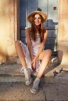 Free People Small NWT Crochet Cotton Dress Ivory NEW