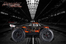 "ARRMA OUTCAST GRAPHICS WRAP DECALS ""HELL RIDE"" FITS OEM BODY PARTS NATURAL FLAME"