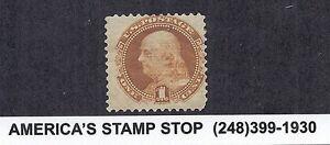 1869 pictorial US SC 112, Benjamin Franklin MH OG FINE - 1c Buff