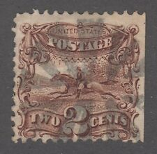 "USA Scott #113  2 cent Pony Express brown  ""G""  Grill  F  **"
