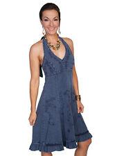 WOMENS SCULLY CANTINA HALTER DRESS BLUE BLACK WHITE VIOLET XS S M L XL 2XL XXL