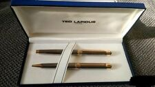 TED LAPIDUS FOUNTAIN &  BALLPOINT PEN  SET NEW IN BOX MADE IN FRANCE