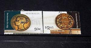 AUST 2005 ANN OF FIRST AUSTRALIAN COIN SHEET  SET OF 2 F/U