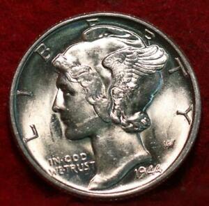 Uncirculated 1944 Philadelphia Mint Silver Mercury Dime