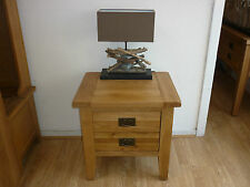 100% VANCOUVER PETITE SOLID OAK LAMP / COFFEE/ BEDSIDE TABLES NB007 VERY STURDY