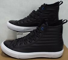 New Mens 10 Converse CTAS WP Boot Hi Black White Leather Shoes Boots$120 157492C