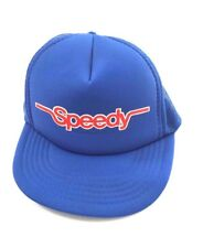 Speedy Snap Back Hat Cap Retro Trucker Old School Muffler Blue Mesh Auto Service