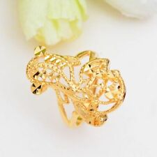 Plant Shape Metal Dubai Goldfish Adjustable Classic Rings For Women Party Gift