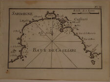 CARTE MARINE XVIII° SIECLE JOSEPH ROUX 1764  SARDAIGNE CAGLIARI