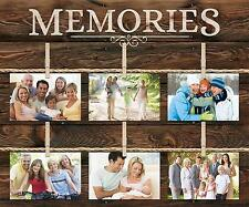 Memories Picture Frame 6 Photo Wall Decor Collage Rustic 18 x 21 Decor Home New
