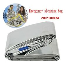 Emergency Survival Outdoor Kit Rescue Thermal Space Sleeping Bag Blanket 84*36in