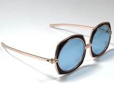 Vintage Renauld Rose Gold Jewel Frame Brown Lens Sunglasses 80's Usa