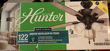 Bronze Ceiling Fan Hunter 5 Blade LED Lighted 48 in Cottage Rustic Style Indoor