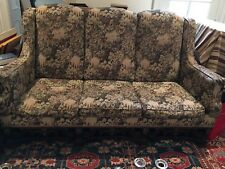 Victorian Sofa Carved Feet Legs Gold Accents Antique