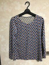 Thermal Orla Kiely Heattech Long Sleeve V Neck Thermal T Shirt Top by Uniqlo