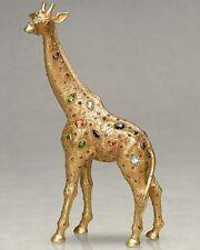 $1100! New Jay Strongwater Midoris Giraffe Object Jewel gold Figurine Rare!