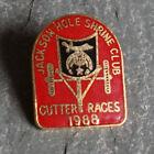 Vintage Pin - Shriners Masonic Jackson Hole Lapel Cutter Races Cloisonne 1988