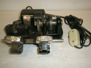 ILCO KEY MAKER CUTTING MACHINE W/ DAYTON AC-DC SERIES MOTOR 5000 RPM