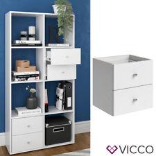 VICCO Schubladeneinsatz SCUTUM Weiß - Bücherregal Raumteiler Würfelregal Büro