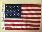"United States U.S. Indoor Outdoor Dyed Nylon Boat Flag Grommets 12"" X 18"""