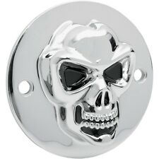 3d Skull ignición tapa Point cover, f. Harley-Davidson Big Twin 70 - 99