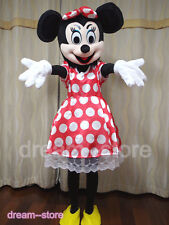 【SALE】 NEW MINNIE MOUSE MASCOT COSTUME ADULT SIZE HALLOWEEN DRESS FAST SHIPPING
