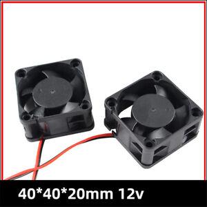 3D Printer part 4020 DC cooling fan radiator 12V Brushless bearing mini cooler